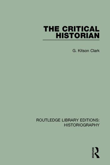 The Critical Historian book cover