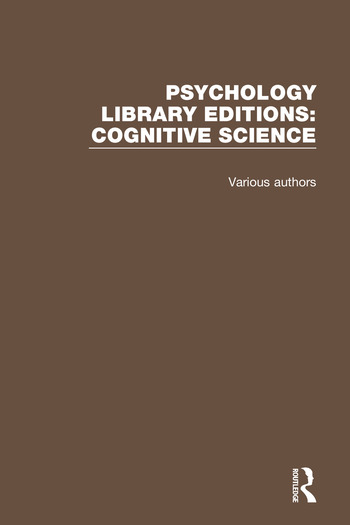 Psychology Library Editions: Cognitive Science 27 Volume Set book cover
