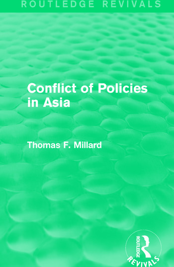 Conflict of Policies in Asia book cover