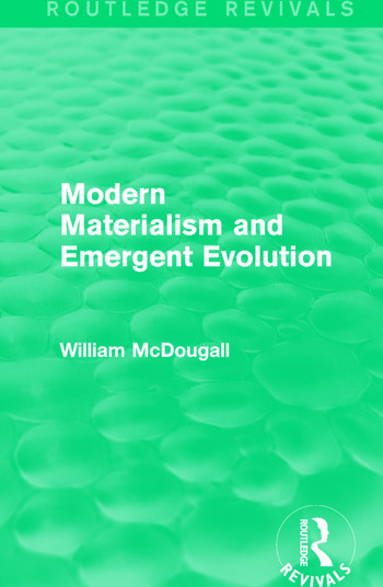 Modern Materialism and Emergent Evolution book cover