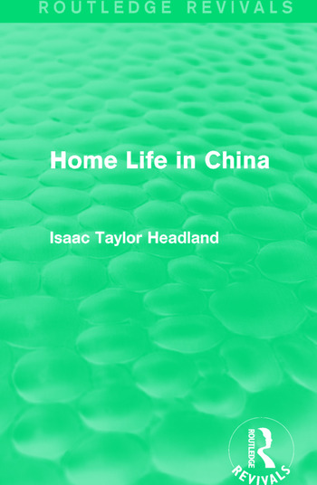 Home Life in China book cover