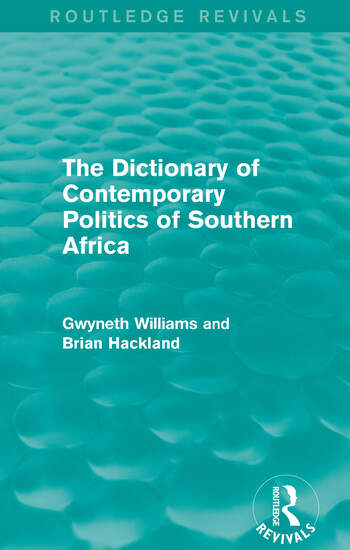 The Dictionary of Contemporary Politics of Southern Africa book cover