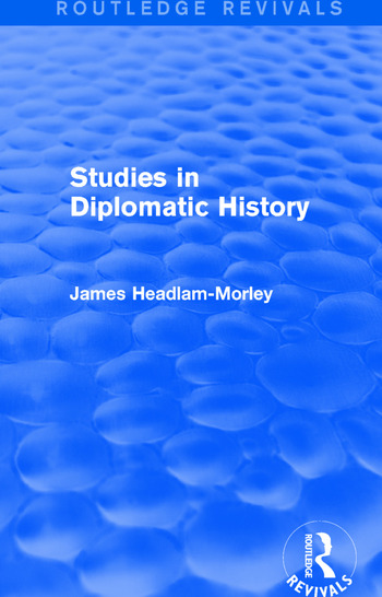 Studies in Diplomatic History book cover