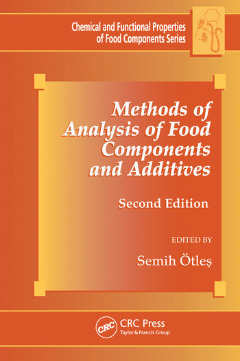Methods of Analysis of Food Components and Additives book cover