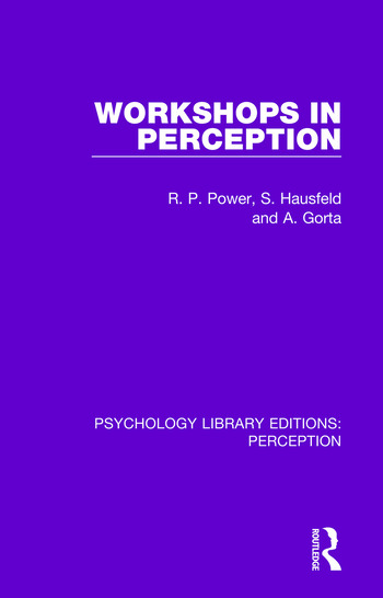 Workshops in Perception book cover