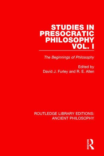 Studies in Presocratic Philosophy Volume 1 The Beginnings of Philosophy book cover
