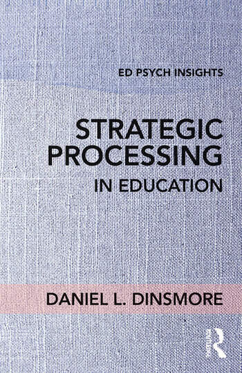 Strategic Processing in Education book cover