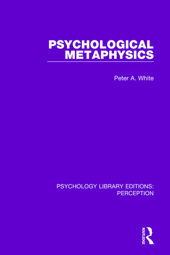 Psychological Metaphysics book cover