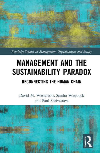 Management and the Sustainability Paradox Reconnecting the Human Chain book cover