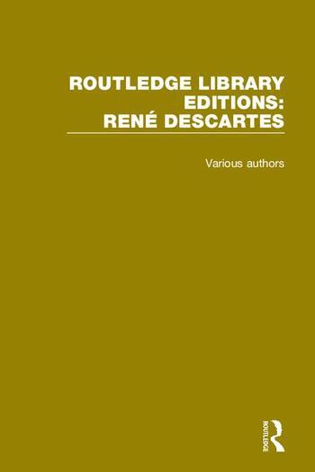 Routledge Library Editions: Rene Descartes book cover