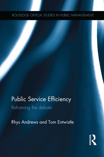 Public Service Efficiency Reframing the Debate book cover