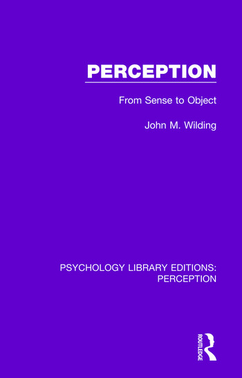 Perception From Sense to Object book cover