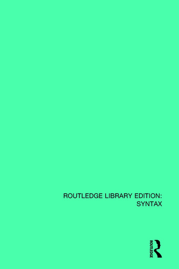 An Introduction to Transformational Syntax book cover