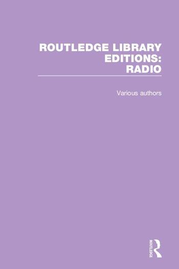 Routledge Library Editions: Radio book cover