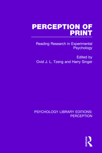 Perception of Print Reading Research in Experimental Psychology book cover
