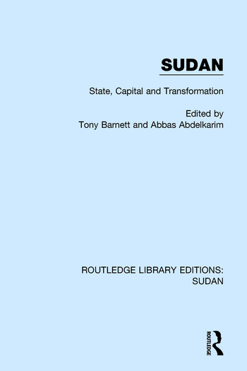 Sudan State, Capital and Transformation book cover