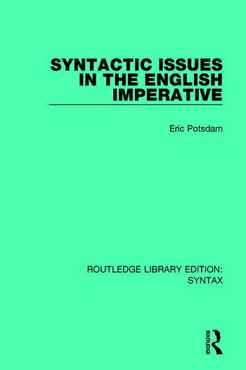 Syntactic Issues in the English Imperative book cover