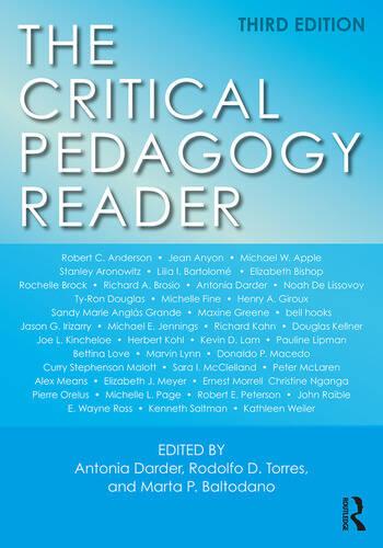 The Critical Pedagogy Reader book cover
