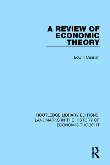 A Review of Economic Theory book cover