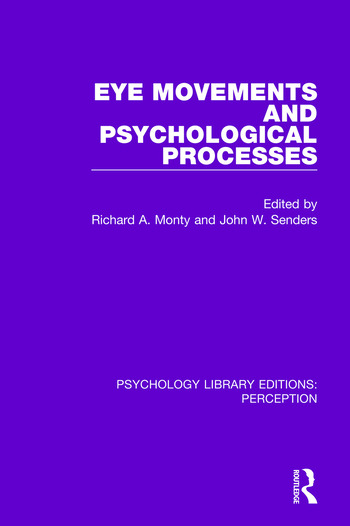 Eye Movements and Psychological Processes book cover