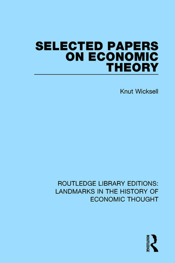 Selected Papers on Economic Theory book cover