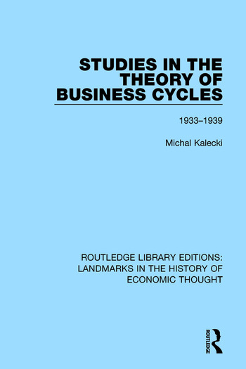 Studies in the Theory of Business Cycles 1933-1939 book cover
