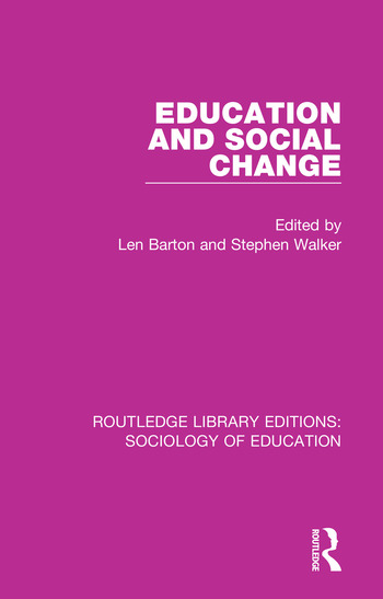Education and Social Change book cover