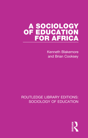 A Sociology of Education for Africa book cover