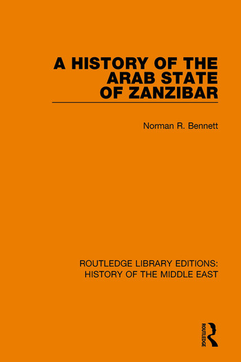 A History of the Arab State of Zanzibar book cover