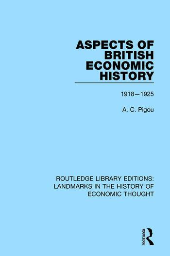 Aspects of British Economic History 1918-1925 book cover