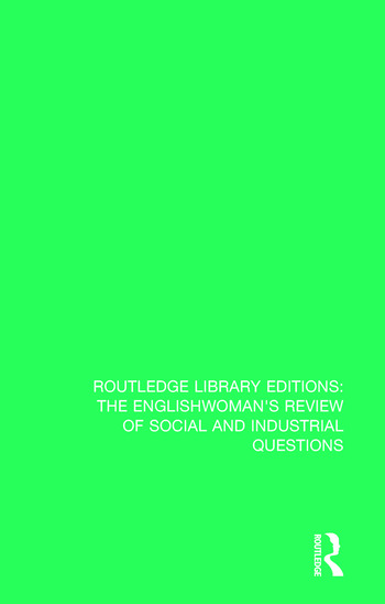 The Englishwoman's Review of Social and Industrial Questions 1882 book cover