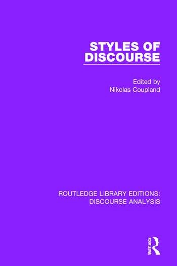 Styles of Discourse book cover
