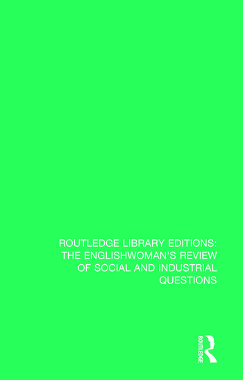 The Englishwoman's Review of Social and Industrial Questions 1886 book cover