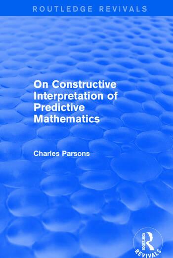 On Constructive Interpretation of Predictive Mathematics (1990) book cover