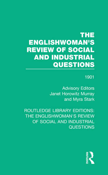 The Englishwoman's Review of Social and Industrial Questions 1901 book cover