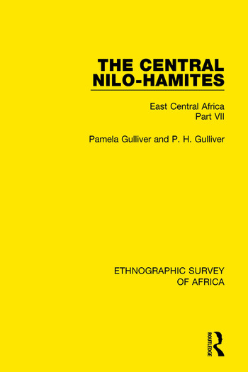 The Central Nilo-Hamites East Central Africa Part VII book cover