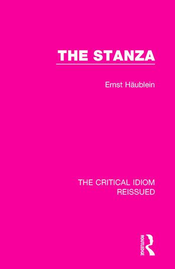 The Stanza book cover