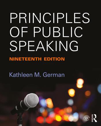 Principles of Public Speaking book cover