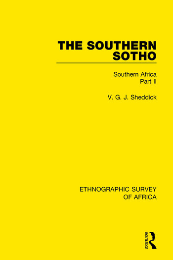 The Southern Sotho Southern Africa Part II book cover