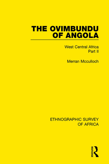 The Ovimbundu of Angola West Central Africa Part II book cover
