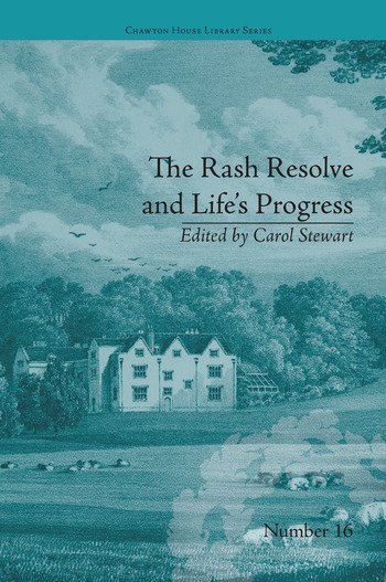 The Rash Resolve and Life's Progress by Eliza Haywood book cover