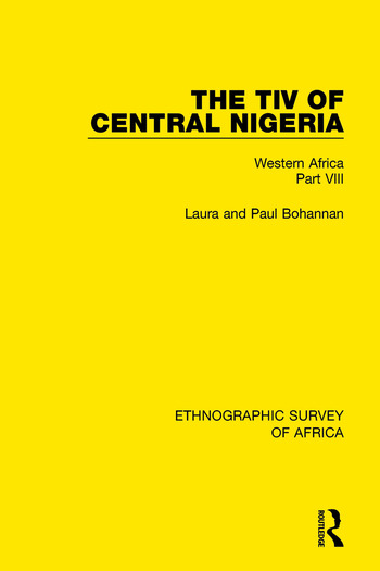 The Tiv of Central Nigeria Western Africa Part VIII book cover