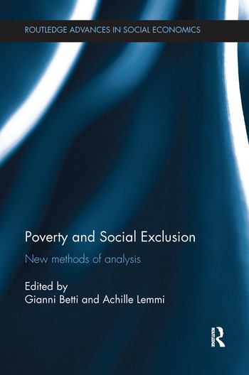 Poverty and Social Exclusion New Methods of Analysis book cover