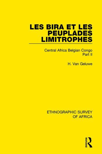 Les Bira et les Peuplades Limitrophes Central Africa Belgian Congo Part II book cover