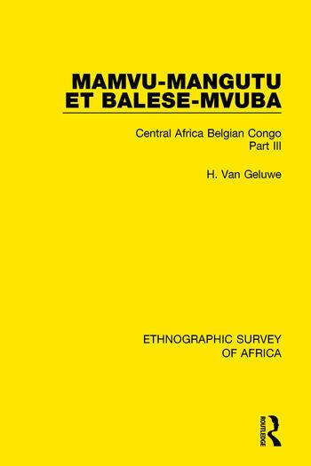 Mamvu-Mangutu et Balese-Mvuba Central Africa Belgian Congo Part III book cover