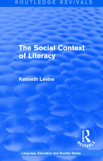 Routledge Revivals: The Social Context of Literacy (1986) book cover