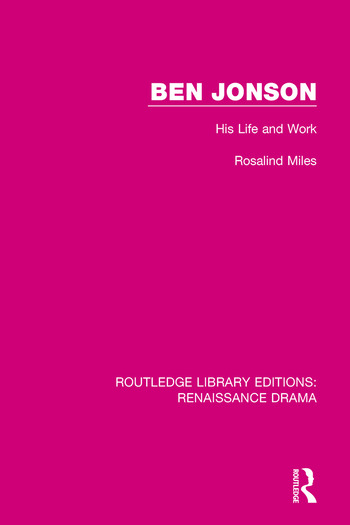 Ben Jonson His Life and Work book cover
