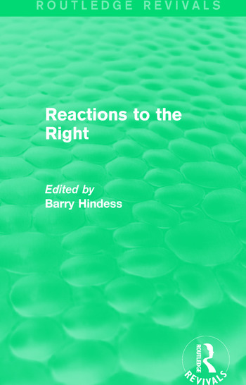 Routledge Revivals: Reactions to the Right (1990) book cover
