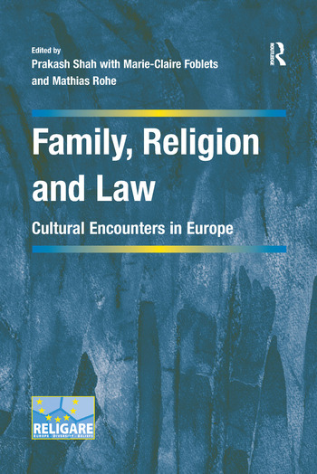 Family, Religion and Law Cultural Encounters in Europe book cover