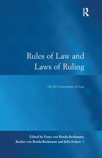 Rules of Law and Laws of Ruling On the Governance of Law book cover